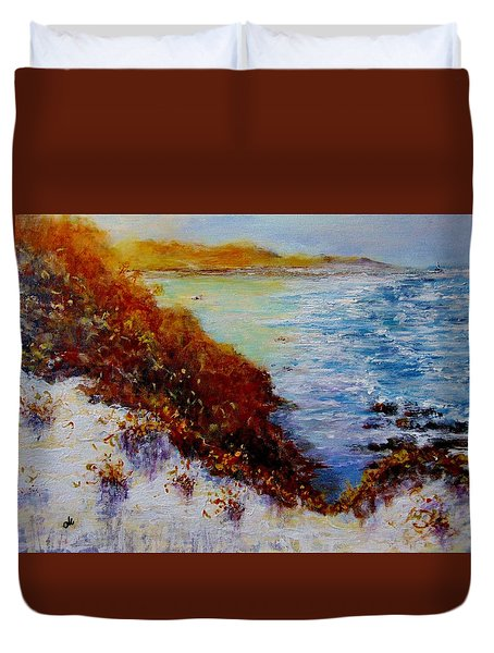 Duvet Cover featuring the painting Summer Dream.. by Cristina Mihailescu