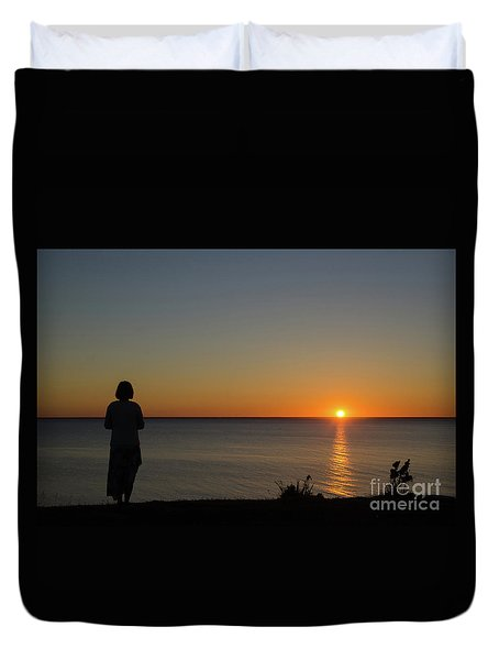 Duvet Cover featuring the photograph Summer Evening By The Coast by Kennerth and Birgitta Kullman