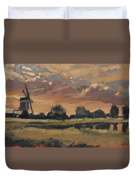 Summer Evening In The Polder Duvet Cover