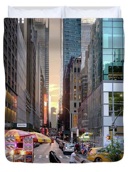 Summer Evening, New York City  -17705-17711 Duvet Cover