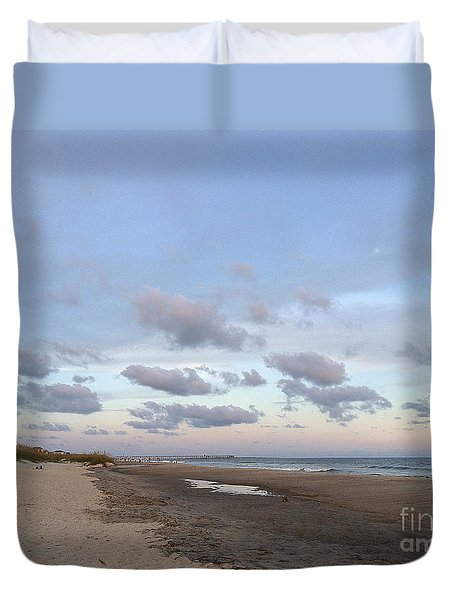 Duvet Cover featuring the photograph Summer Evening Sky by Shelia Kempf
