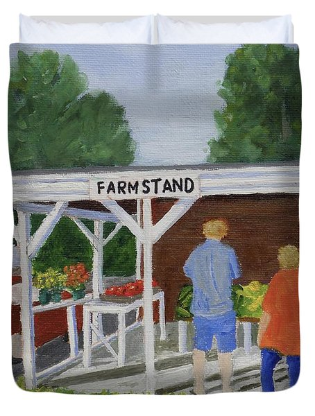 Summer Farm Stand Duvet Cover