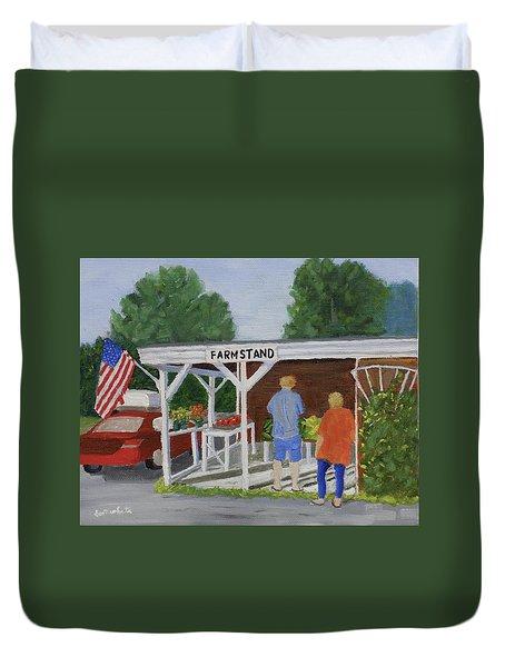 Summer Farm Stand Duvet Cover