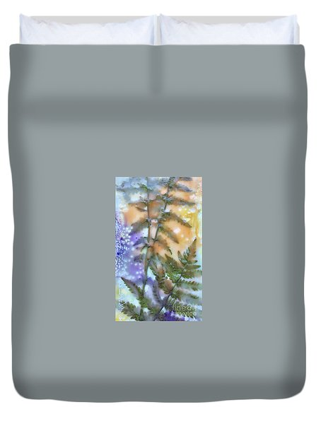Summer Ferns Duvet Cover