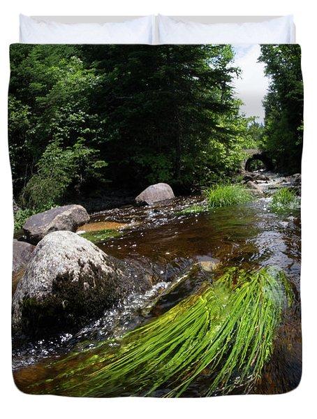 Summer Flow Of Water Near Rangeley Maine  -63322 Duvet Cover