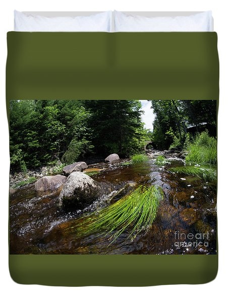 Summer Flow Of Water Near Rangeley Maine  -63322 Duvet Cover