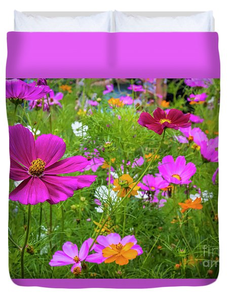Summer Flower Garden Duvet Cover