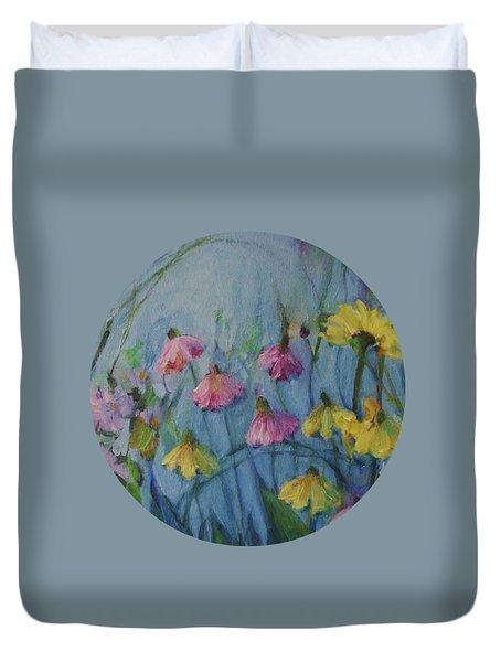 Summer Flower Garden Duvet Cover by Mary Wolf