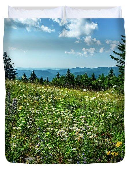 Summer Flowers In The Highlands Duvet Cover
