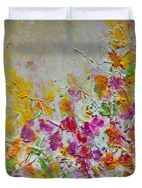 Summer Fragrance Abstract Painting Duvet Cover