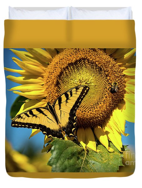 Summer Friends Duvet Cover by Sandy Molinaro