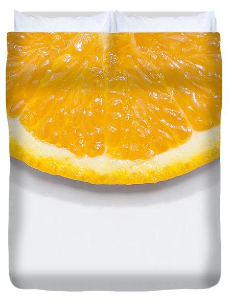 Summer Fruit Orange Slice On Studio Copyspace Duvet Cover
