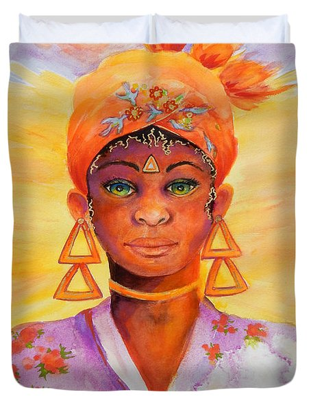 Summer Goddess Duvet Cover