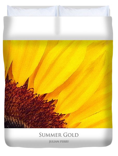 Duvet Cover featuring the digital art Summer Gold by Julian Perry