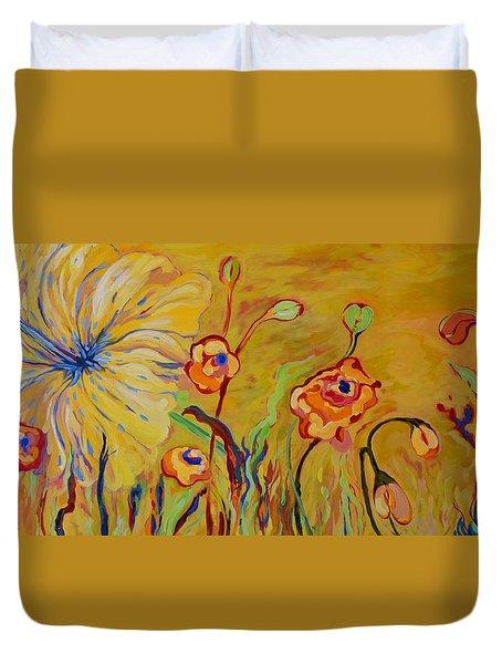 Summer Hibiscus Flower Duvet Cover