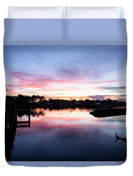 Duvet Cover featuring the photograph Summer House by Laura Fasulo
