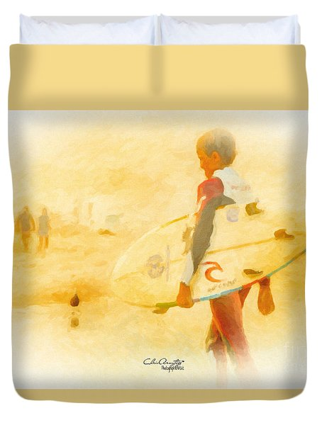 Duvet Cover featuring the painting Summer II by Chris Armytage