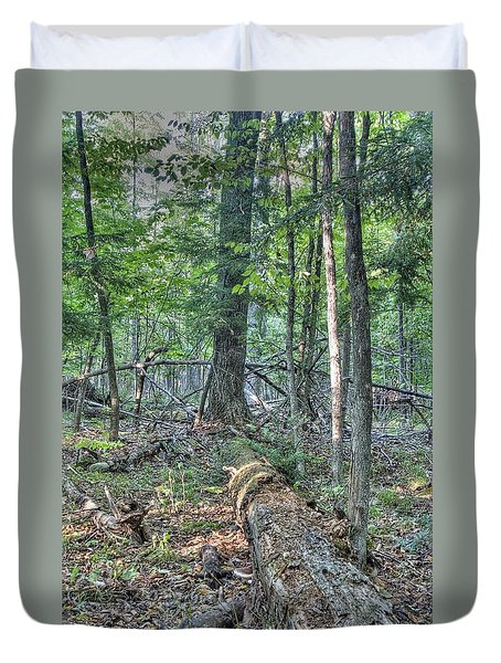 Summer In A Canadian Forest Duvet Cover