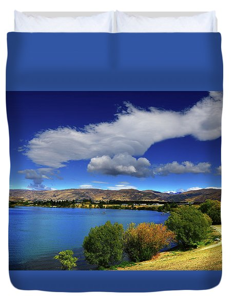 Duvet Cover featuring the photograph Summer In Central by Nareeta Martin