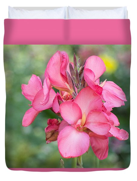 Duvet Cover featuring the photograph Summer In Color  by Julie Andel