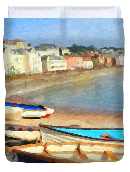 Summer In Dawlish Duvet Cover