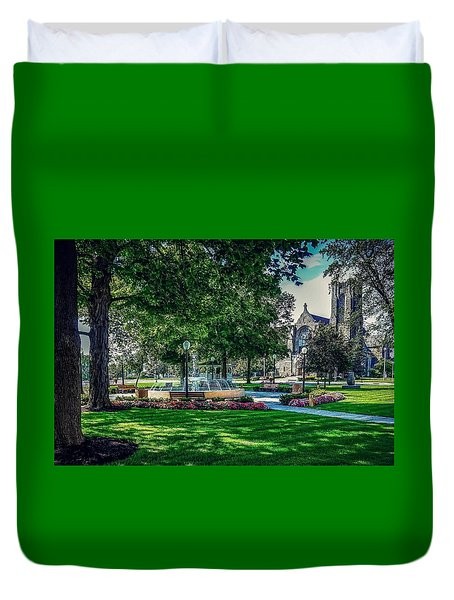 Duvet Cover featuring the photograph Summer In Juckett Park by Kendall McKernon