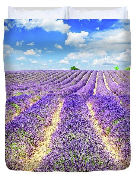 Summer In Provence Duvet Cover by Anastasy Yarmolovich