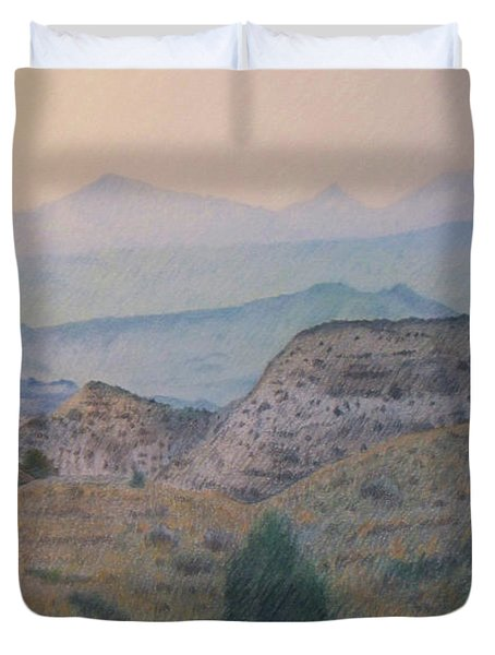 Summer In The Badlands Duvet Cover
