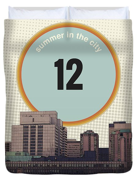 Duvet Cover featuring the photograph Summer In The City by Phil Perkins