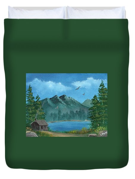 Summer In The Mountains Duvet Cover by Sheri Keith