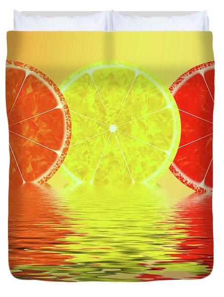 Orange,lemon,blood Orange Duvet Cover