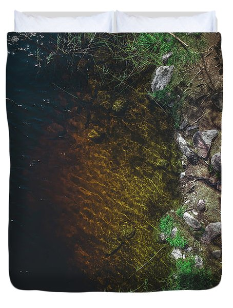 Summer Lake - Aerial Photography Duvet Cover