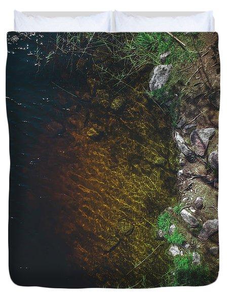 Summer Lake - Aerial Photography Duvet Cover