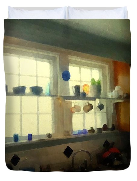 Summer Light In The Kitchen Duvet Cover by RC deWinter