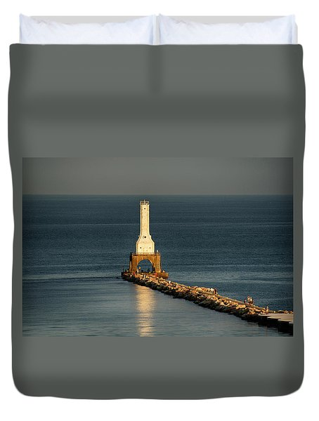 Summer Lighthouse Duvet Cover
