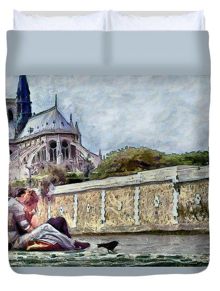 Duvet Cover featuring the digital art Summer Love by Pennie McCracken