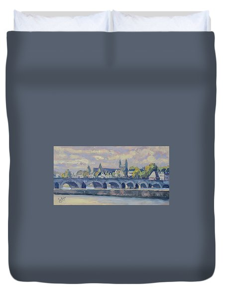 Summer Maas Bridge Maastricht Duvet Cover