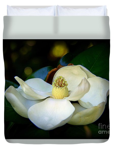 Duvet Cover featuring the photograph Summer Magnolia by Lisa L Silva