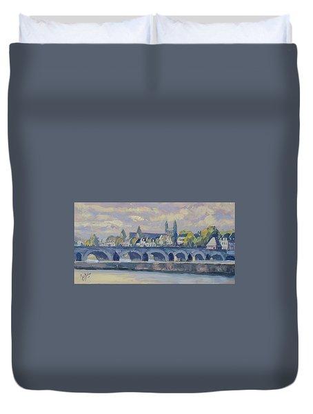 Summer Meuse Bridge, Maastricht Duvet Cover