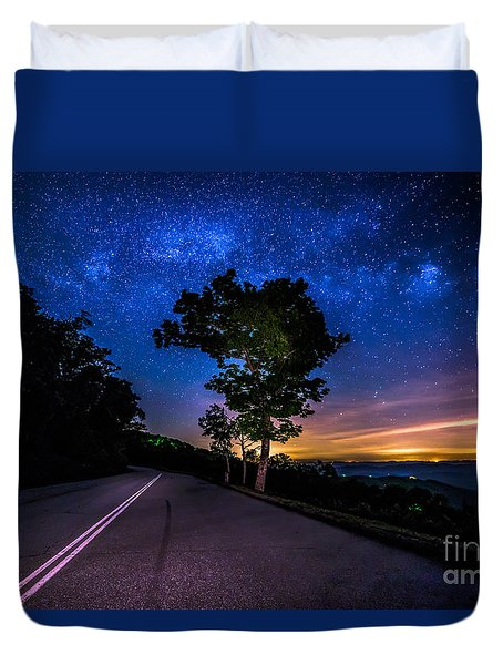 Summer Milky Way Duvet Cover