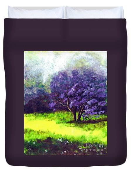 Duvet Cover featuring the painting Summer Mist by Patricia Griffin Brett