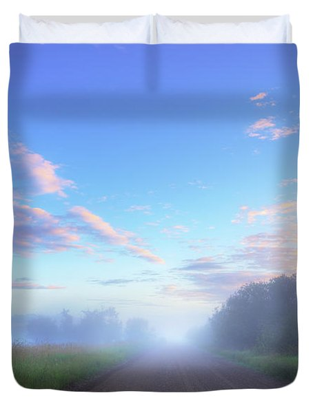 Summer Morning In Alberta Duvet Cover