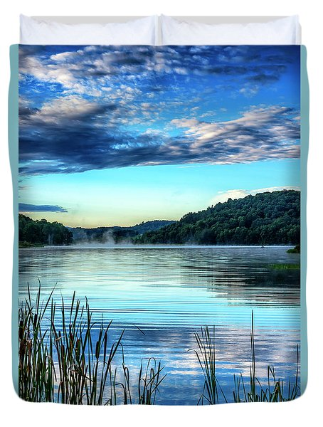 Summer Morning On The Lake Duvet Cover by Thomas R Fletcher
