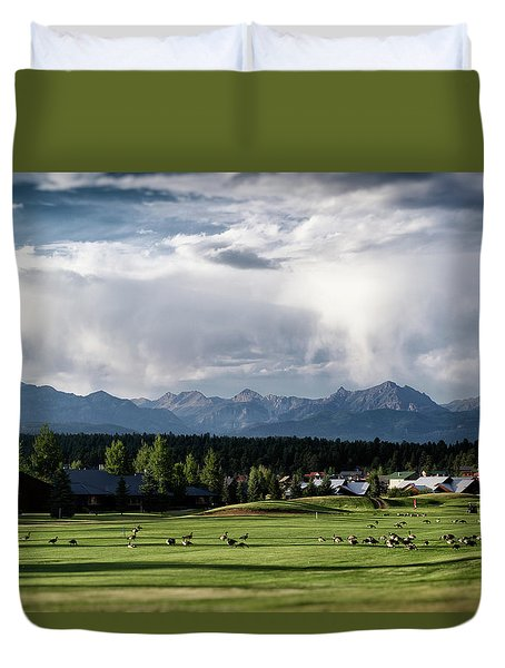 Summer Mountain Paradise Duvet Cover