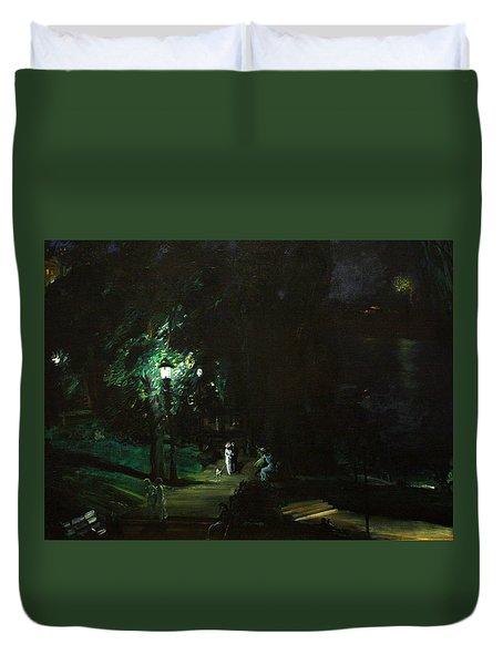 Summer Night Riverside Drive Duvet Cover