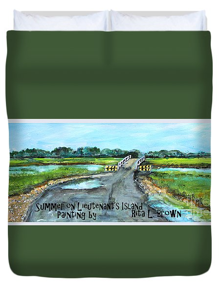 Summer On Lieutenant's Island Duvet Cover
