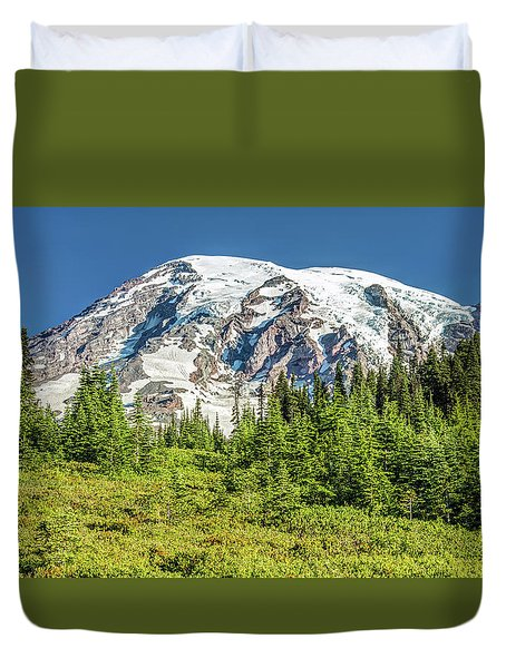 Duvet Cover featuring the photograph Summer On Mount Rainier by Pierre Leclerc Photography