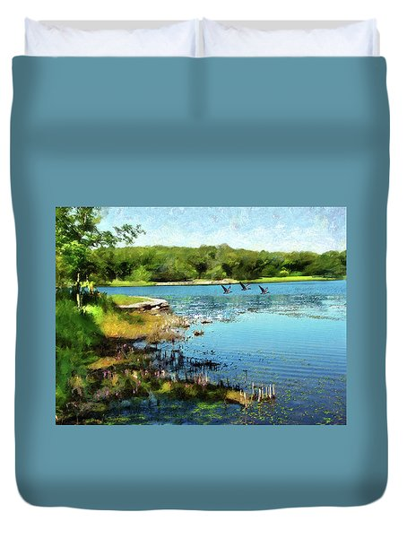 Summer On The Lake Duvet Cover