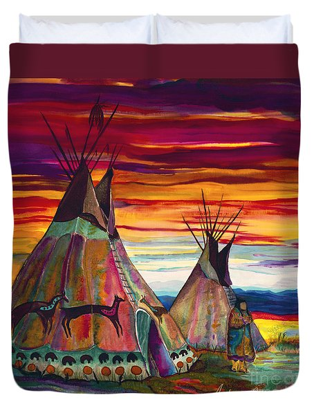 Summer On The Plains Duvet Cover by Anderson R Moore