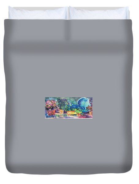 Summer On The Porch Duvet Cover